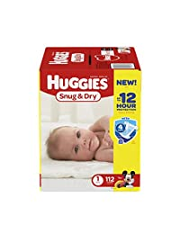 Huggies Snug & Dry Diapers, Size 1, 112 Count (Packaging May Vary) BOBEBE Online Baby Store From New York to Miami and Los Angeles