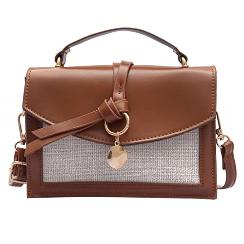 Bags Fashion Patchwork Pretty Girl Women Brown Bag Body Shoulder Crossbody Cross Ladies Bag qRHIwXxH0