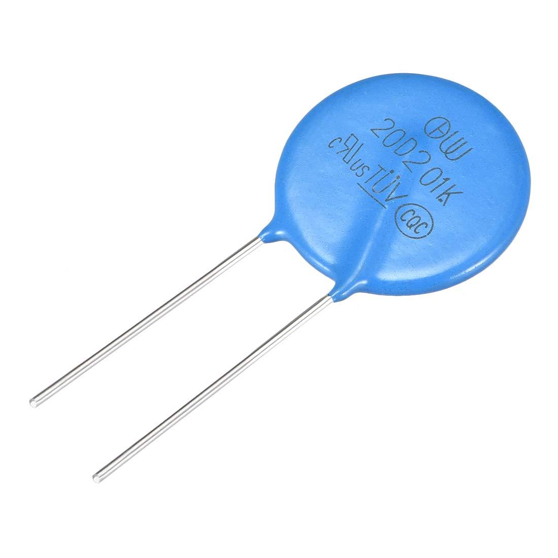 uxcell 10Pcs Voltage Dependent Resistors AC 25V 7D390K Radial Lead Disc Varistors