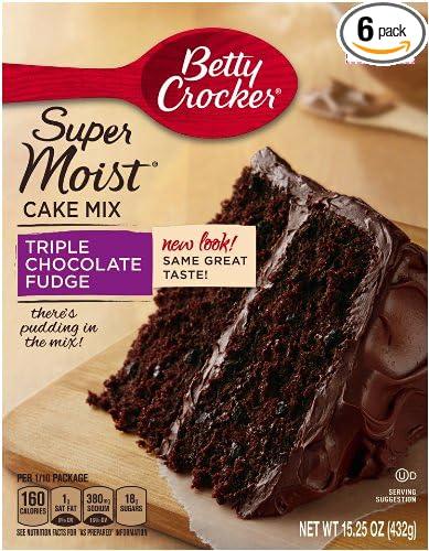 amazon com betty crocker baking mix super moist cake mix triple