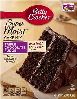 Betty Crocker Super Moist Cake Mix Triple Chocolate Fudge 15.25 oz Box (pack of 6 & Amazon.com : Betty Crocker Super Moist Cake Mix Butter Recipe ... Aboutintivar.Com