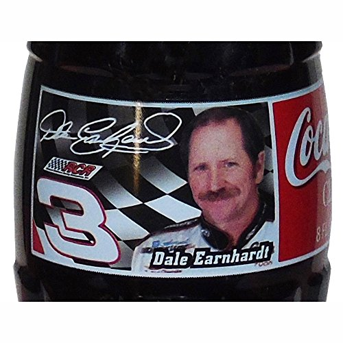 (DALE EARNHARDT Sr Coca Cola Classic Glass Bottle 8oz (1996) Full, Unopened)