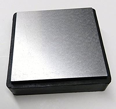 """Steel & Rubber Block 4"""" Double Sided Combination Metal Working Anvil Bench Tools (lz 4.3 Fre)"""
