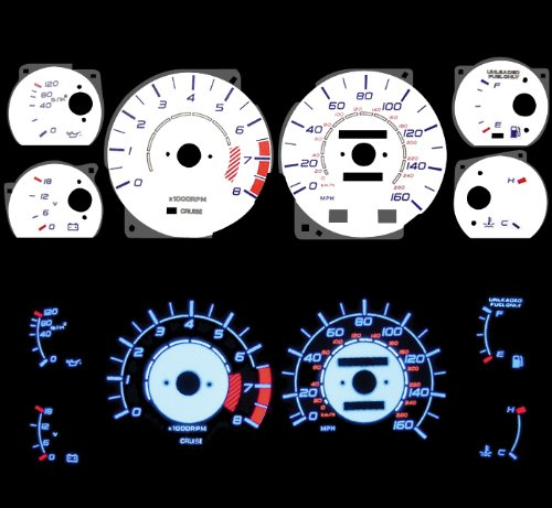 Blue Indiglo Glow White Gauges For 86-92 Toyota Supra Nt Na Non-turbo