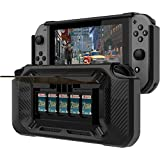 Nintendo Switch Case Stand [Stores 5 Games] Slim Compact Multi Angle Holder Play Stand for 2017 -Black