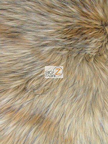Fake Fur Fabric - Big Z Fabric ANIMAL FAUX FUR FABRIC SOLD BY THE YARD LONG/SHORT PILE COSTUME COATS SCARFS ASSORTED (Baby Wolf)
