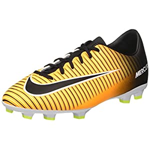 NIKE Jr. Mercurial Victory VI FG Soccer Cleat (Sz. 2Y) Laser Orange, Black