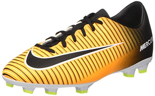 Nike Jr. Mercurial Victory VI FG Soccer Cleat (Sz. 1.5Y) Laser Orange, Black (Nike Mercurial Jr Grip)