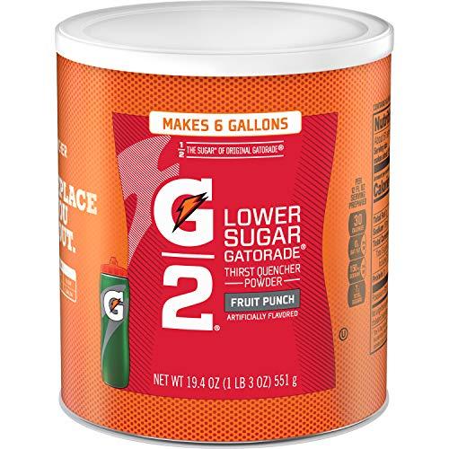 Gatorade Thirst Quencher Powder, G2 Fruit Punch, 19.4 Ounce, pack of 3 (Best Gatorade Mixed Drinks)