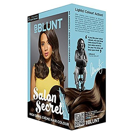 41c3326db1f Buy Bblunt Salon Secret High Shine Creame Hair Colour (Chocolate Dark Brown   3) 100 Gm With Ayur Product Online at Low Prices in India - Amazon.in