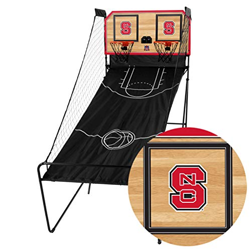 Victory Tailgate North Carolina State Wolfpack Double Shootout - Ready-to-Play with Four Basketballs, Pump and Needle - More Colleges Available