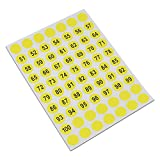 Diameter 0.4 inch Round Consecutive Number Label Self Adhesive Packing Sticker Figure Identify Symbol Inventory Storage Package Labels (75000 pieces, number 51 to 100)