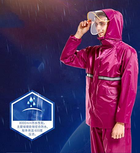Size Split Rainwear Jujube Elettrico Auto Traspirante Moto Xxl Riutilizzabili Poncho Raincoat Set Geyao Blue Donne color In Light Impermeabile Pants Uomini Rain Mesh E Blue BPnaq