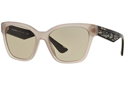 4667123f92920 Image Unavailable. Image not available for. Color  Miu Miu UE25J2 Opal  Argil 06RS Wayfarer Sunglasses Lens ...