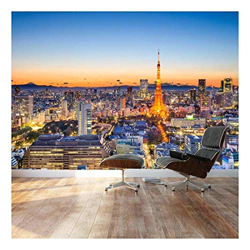 Large Wall Mural Landscape Of Tokyo City Skyline With