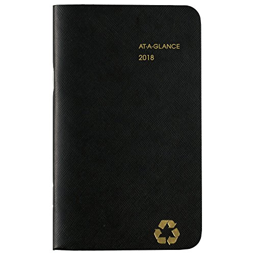 "AT-A-GLANCE Pocket Planner, January 2018 - December 2019, 3-5/8"" x 6-1/16"", Recycled, Color Will Vary (70024G00)"