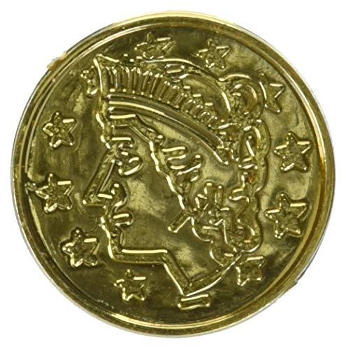 Plastic Coins (gold)    (100/Pkg)