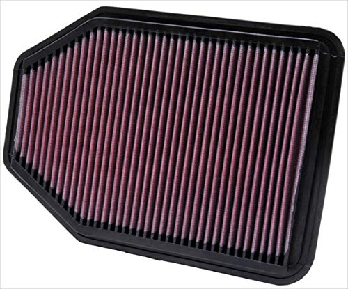K&N engine air filter, washable and reusable:  2007-2018 Jeep Wrangler V6 3.6L 33-2364