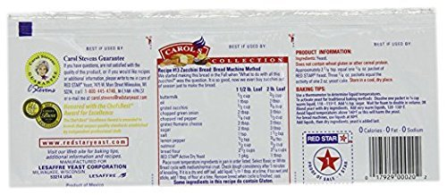 Red Star Active Dry Yeast Non GMO 1.4 Oz. Pack Of 3.