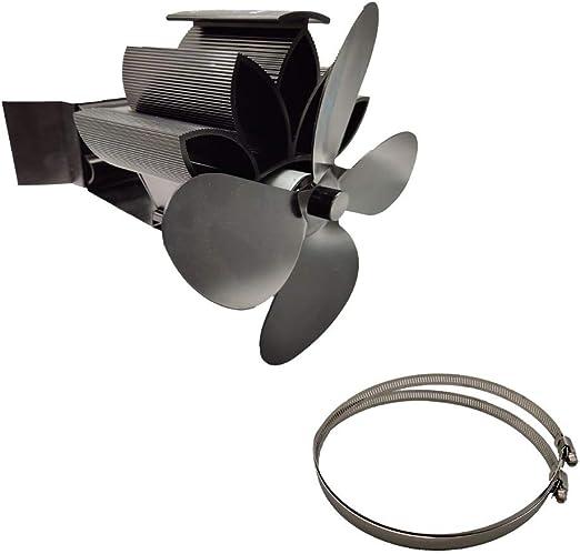 Angelliu Ecofan - Ventilador de Estufa Colgante eléctrico con 4 ...