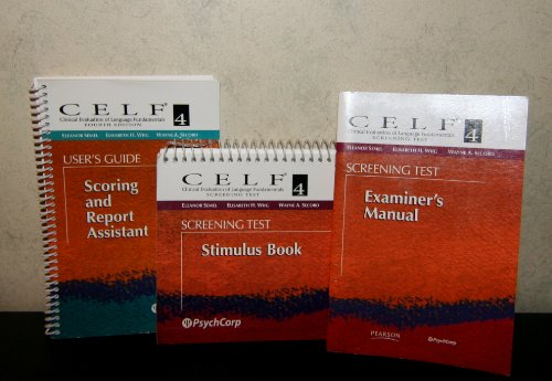 Clinical Evaluation of Language Fundamentals (CELF-4) Complete Kit