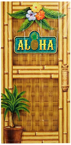 Tropical Themed Halloween Costumes (Beistle 57314 Aloha Door Cover, 30
