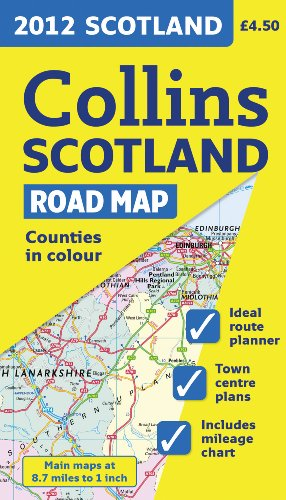 2012 Collins Scotland Road Map (International Road Atlases)