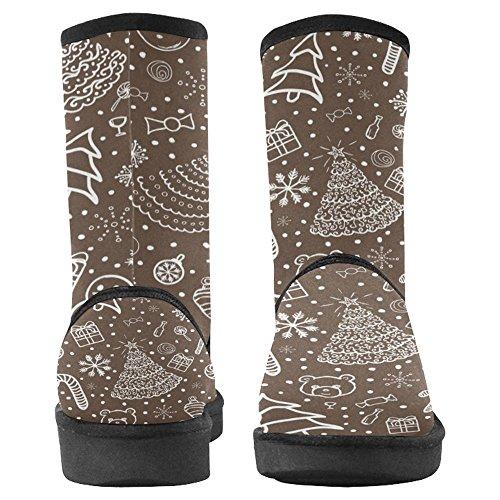 InterestPrint Designed Boots Multi Comfort Boots Winter Womens Unique 1 Snow rIwqxIPT