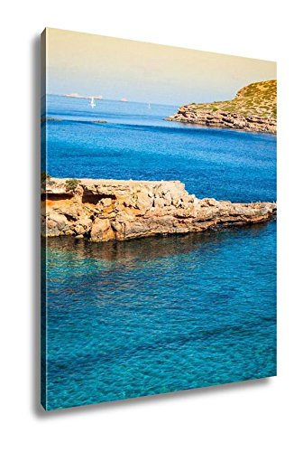 Ashley Canvas Beautiful Island And Turquoise Waters In Cala Conta Ibiza Spain, Wall Art Home Decor, Ready to Hang, Color, 20x16, AG6518806 by Ashley Canvas