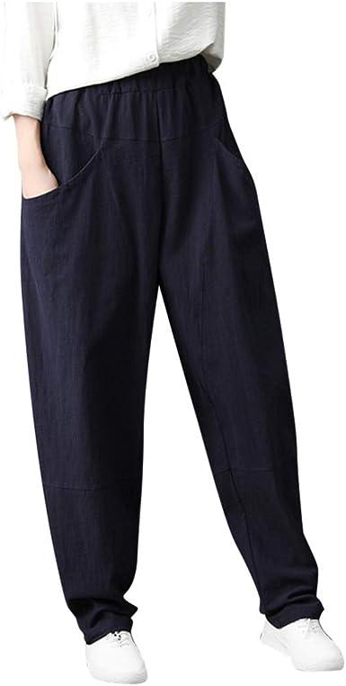 Pantalones para Mujer Anchos Primavera Tallas Grandes LuckyGirls ...
