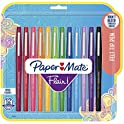 12-Pack Paper Mate Flair Felt Tip Pens (Assorted Colors)