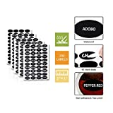 24 Magnetic Spice Tins, 200 Spice Labels, 4