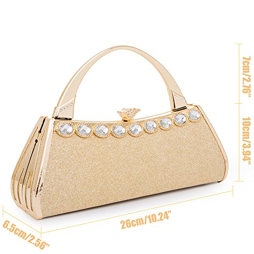 Womans Gold Case Vintage Gold Frame Prom Evening Metal Handbag 11 Clutch Sivler Bags Wedding Purses Hard Bag Party Bridal AdrAaXTwq