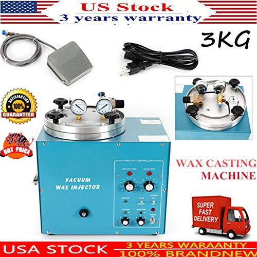 Digital Jewelry Vacuum Wax Injector, Adjustable Pressure, used for sale  Delivered anywhere in USA