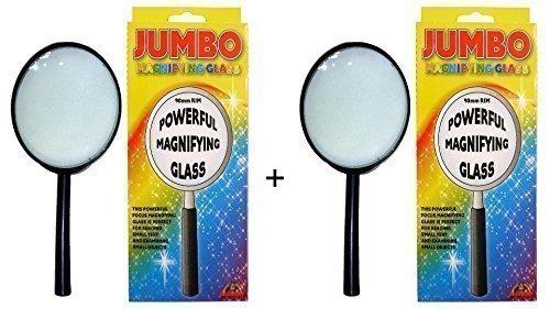 Jumbo Magnifying Glass 9 cm - PACK OF 2 The Harlequin Brand