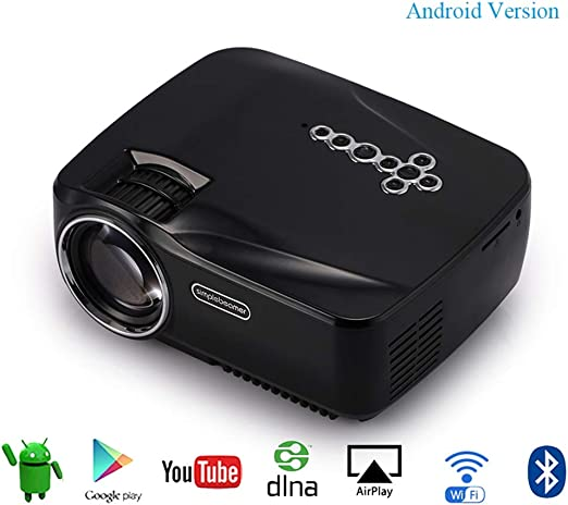 HWUKONG Mini proyector, Android DracoLight, con WiFi Bluetooth ...