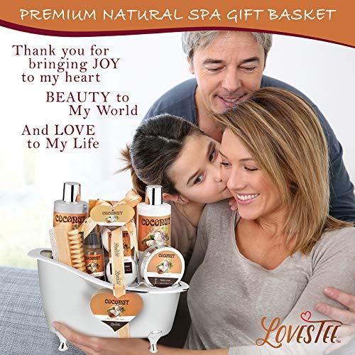 Spa Gift Basket-Bath and Body Gift Set,Coconut For Women-Spa Bath Kit & Bath Gift Basket Birthday Gift Includes Bath… 3