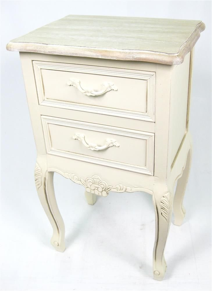 Victorian Range 2 Drawer Bedside/Lamp Table/Chest Shabby Chic Antique  Cream: Amazon.co.uk: Kitchen U0026 Home