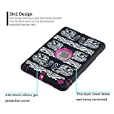 iPad Mini 1 Case,iPad Mini 2 Case,iPad Mini 3 Case,3 Layer Hybrid Shockproof Plastic & Rubber Silicone Case Cover with Stylus and Screen Guard (Elephant Pink)