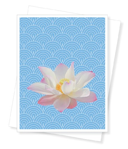 Lotus Flower, Blank Note Cards - Set of 10 Greeting Cards
