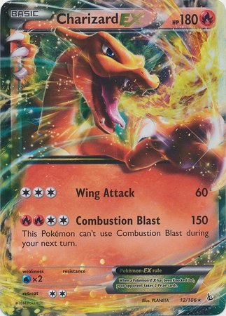 Pokemon Charizard Ex Xy Flashfire 12/106 ()