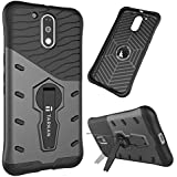 Tarkan™ Moto G4 / Moto G4 Plus Back Case Cover [4th Gen] 360 Kickstand Original Sniper [Grey]