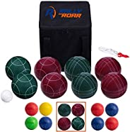Bocce Ball Set Classic 90MM & Premium 100MM Options – Bocce Game for Adults, Families, and Kids Complete B