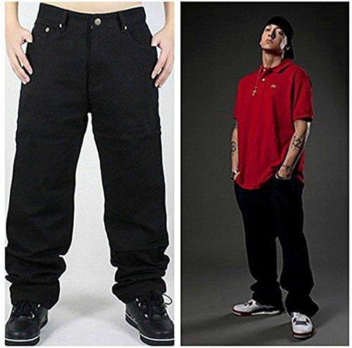 Ricamo Denim Hip Pizoff J9079 Hop Jeans Baggy Harem Stampa Uomo Skull qUqP80