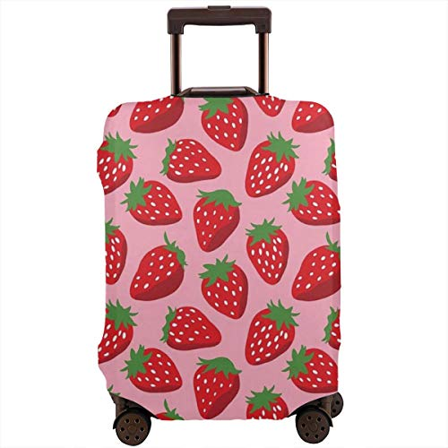 Travel Luggage Protective Covers Strawberry Elastic Zipper Thickened Resistant Scratch Dust Proof Washable Suitcase Cover