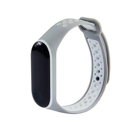 XIHAMA Correa para Xiaomi Mi Band 3, Xiaomi Mi Band 4 Agujero de Aire Transpirable Silicona Bracelet de Repuesto Deportivo Compatible con Mi Band 3/Mi ...