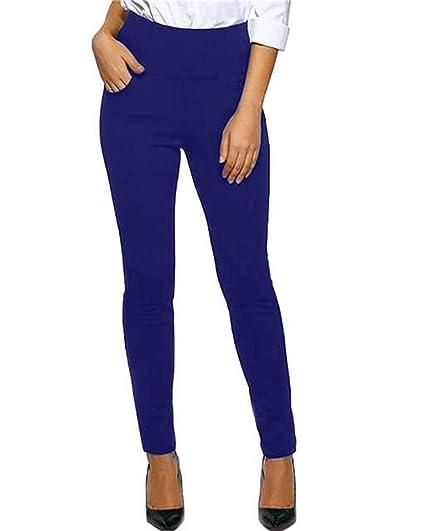 d6570182fa2c30 Kidsform Leggings Pantalon Femme Taille Haute Chic Pantalon Classique Slim  Fit Pants Casual Streth