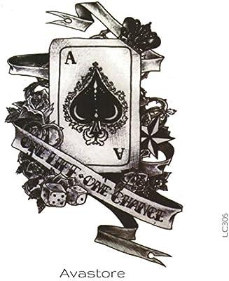 Tatuaje Temporal Poker as de picas avastore: Amazon.es: Belleza