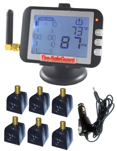Tire-Safeguard RV 6-Tire Flow-Through Sensor Tire Pressure Monitoring System
