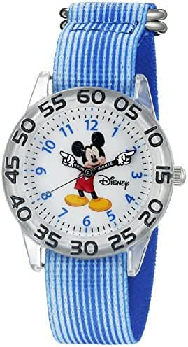Disney Mickey Mouse Kids' W002507 Mickey Mouse Analog Display Analog Quartz Blue Watch